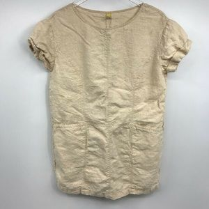 Free People Tunic Top Blouse Small Linen Lagenlook